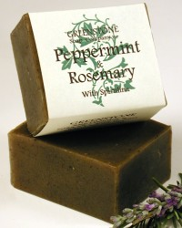 Peppermint and Rosemary Herbal Soap