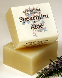 Spearmint Aloe Herbal Soap